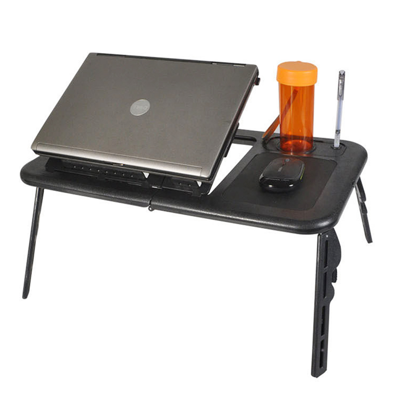 YONTREE 1 PC Adjustable Laptop Computer Desk with Stand Tray and Mouse Pad High Quality Home Furniture<br>