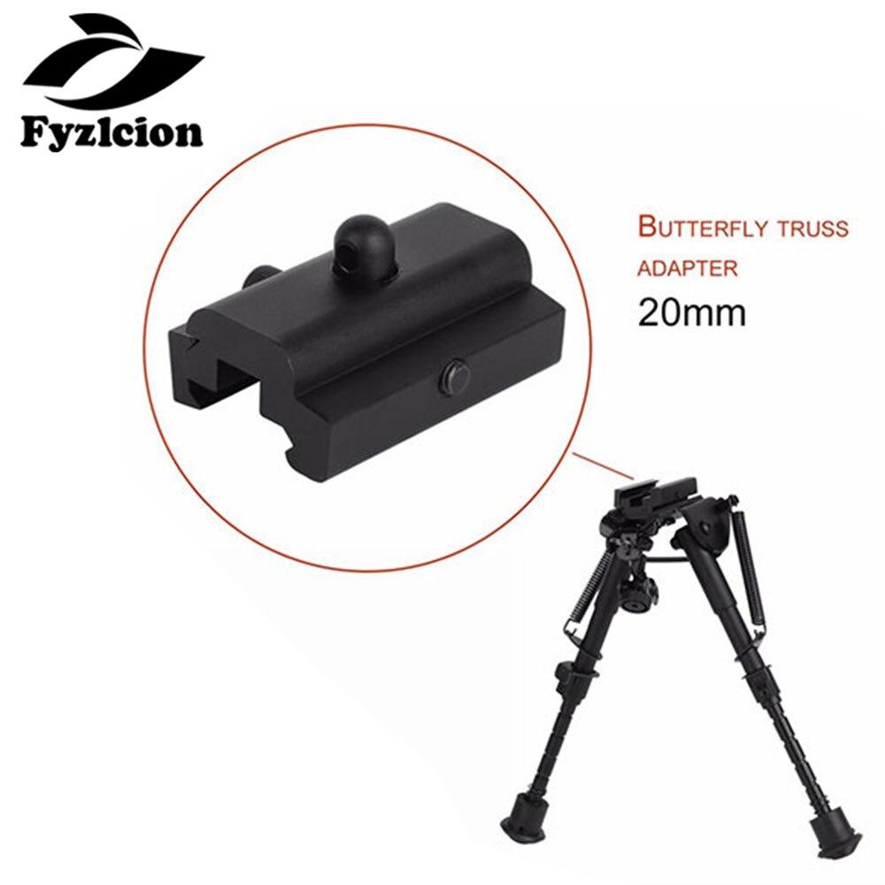 Hunting Gun Bipod Sling Swivel Stud to 20mm Adapter Picatinny Weaver Rails Mount