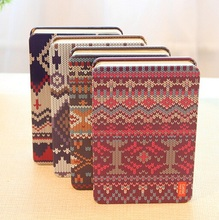 1PCS/LOT Vintage Sweet Sweater Design handemade Iron cover Kraft Paper notebook Korea style(China)