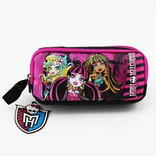 2017 free shipping Monster High original Pencil case Bag school large capacity pencil case Christmas gift
