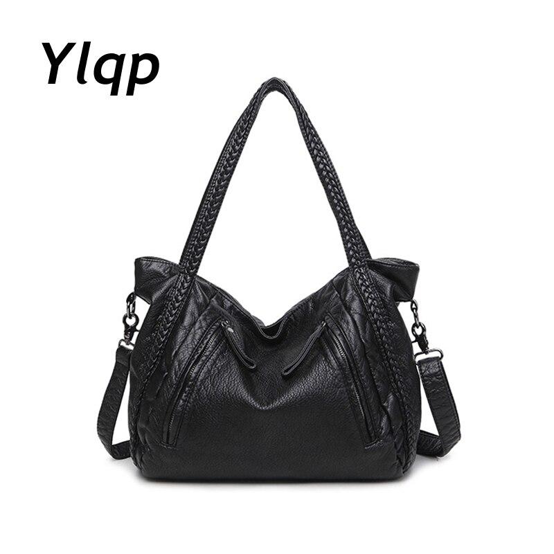 Soft Leather Handbags Big Women Bag Zipper Ladies Shoulder Bag Girl Hobos Bags New Arrivals bolsa feminina 2017 Fashion Tote<br>