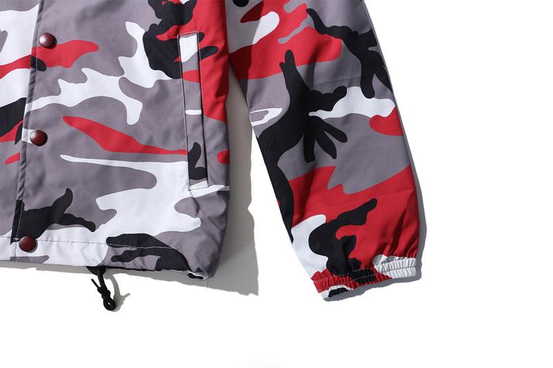 Color Camo Windbreaker Coaches Jackets 12