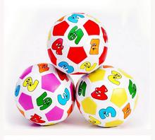 12cm Children Kids Baby Digital Balloon Ball toy Learning toys  Indoor Outdoor Digital Soccer Ball