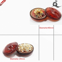 1 pcs,39-40mm mix fashion metal acrylic Fur buttons, Mink coat buttons. Rhinestone buttons. big with a diamond buckle.accessory