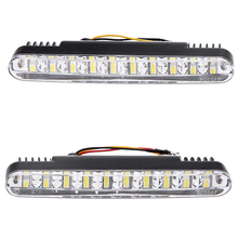 2pcs 30 LED Car Daytime Running Light Daylight Lampl Indicator Light White Yellow(China)