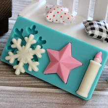 3D Snowflake Birthday Silicone Candle Mold Handmade Soap Mold Cake Sugarcraft Fondant Tools   JH027