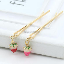Korean Hair Ornaments Strawberry Pendant Pearl Stars Heels Clock Hair Clips Barrette Golden Folder Bangs Clip Practical Jewelry