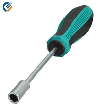 1PC 5.5 mm Hex Nut Key Hand CRV Rubber Handle Screw Driver Tool Arbor Hardening Antislip Metal Socket Wrench Screwdriver