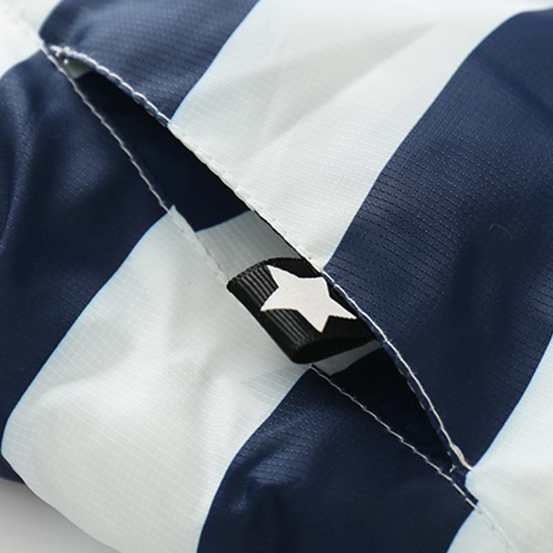 CROAL CHERIE 80-120cm Fashion Star Windproof Striped Jacket For Boys Winter Coat For Girls Children\`s Winter Velvet Clothes (10)