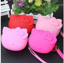 (10 Pcs/Lot) Kawaii Hello Kitty Silicone Zipper Travel Small Storage Bag 5 Color Option