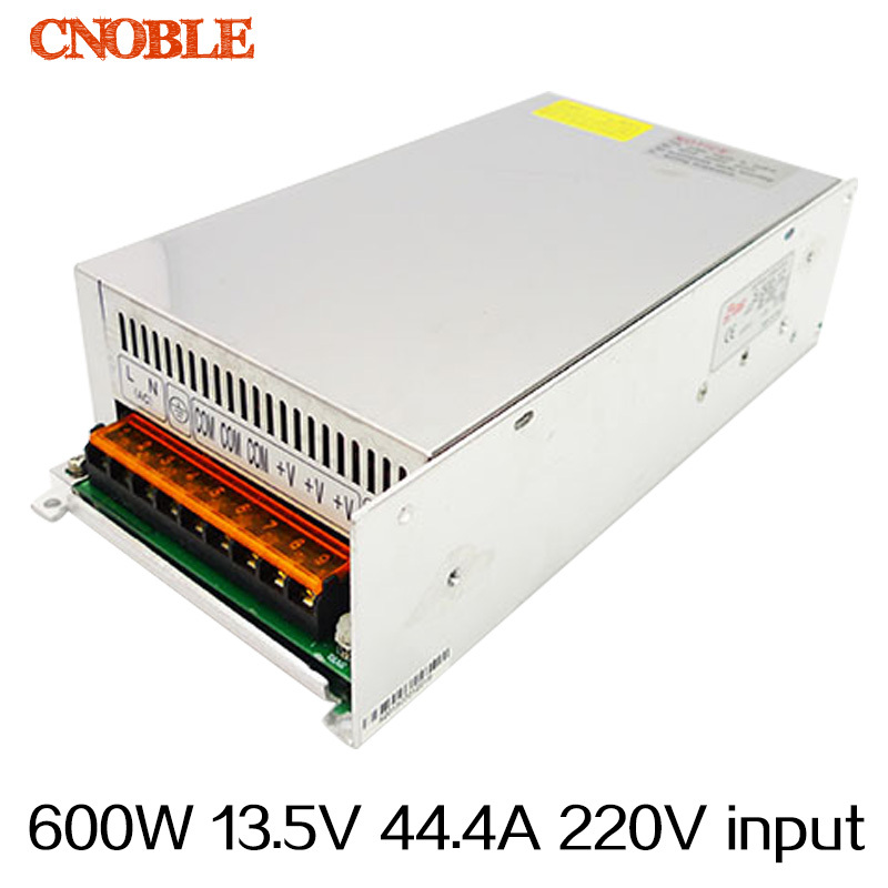 600W 13.5V 44.4A 220V INPUT Single Output Switching power supply for LED Strip light AC to DC<br>