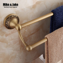 Antique carved brass bathroom double towel bar bathroom towel rack holder bathroom antique hardware accessories