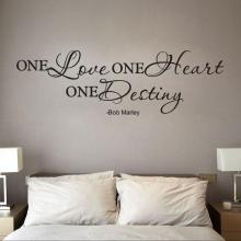 One Love Quote Removable Decal Room Wall Sticker Vinyl Art Home Decor Wallpaper for living room Photo Wall Mural papel parede