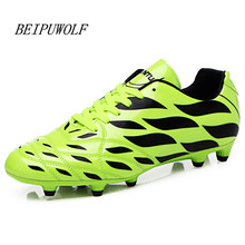 2016 Men Kids Soccer Shoes New Design Hard Court Football Boots Trainers Sports Shoes Cheap Cleats Sneakers For Male Size 35-44