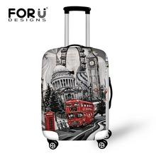 FORUDESIGNS Vintage Travel Luggage Suitcase Cover Storage Bag Retro Case Cover Thick Protective 18-30 Inch Travel Accessories(China)
