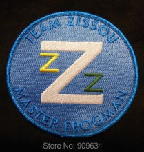THE LIFE AQUATIC TEAM ZISSOU LOGO EMBROIDERED COSTUME IRON PATCH