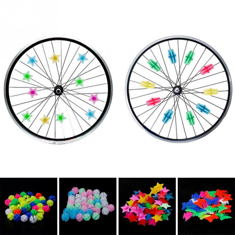 Rueda de Bicicleta Habl/ó de Pl/ástico Colorido Perlas Clip 108 Piezas Bicicleta Bolas Decoraci/ón Accesorios de Decoraci/ón de Bicicletas para Ni/ños