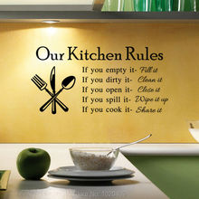 Exclusive Direct wall sticker Home Furnishing decorative Kitchen rules Letter background PVC wallpaper children room 9312