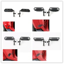 Car Exterior Door Hinge Foot Pedal Pegs Rest For Wrangler Doorless Black 600g Car Styling Auto Parts Accessories(China)