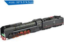 free shipping wholesale Simulation model of locomotive diesel locomotive engine with 2 type gas for children gifts(China)