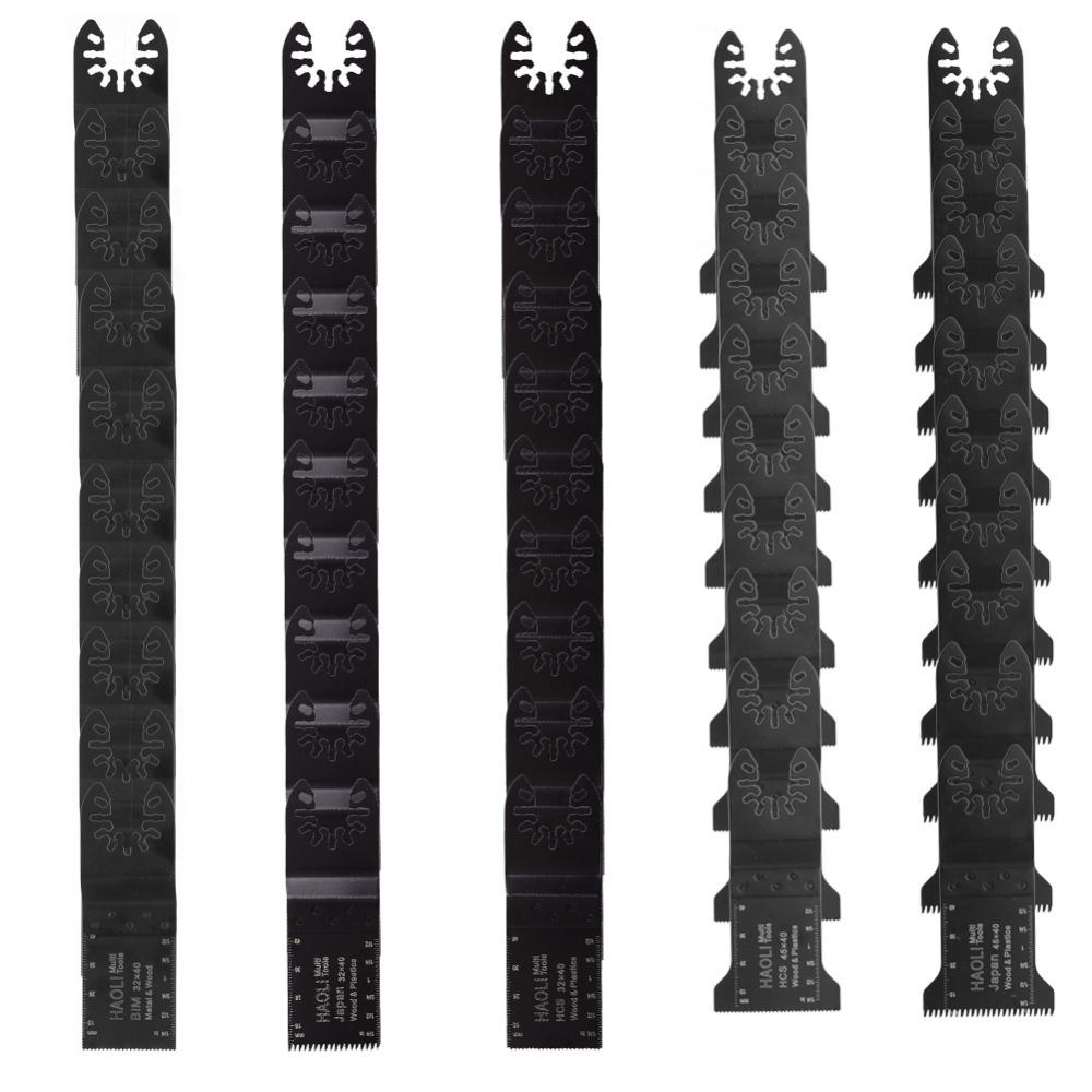 50 Pcs Oscillating Multi-tool Quick Release Saw Blades Universal Fit Fein Dewalt