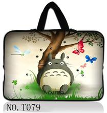 "Cute Totoro Laptop Sleeve Canvas Notebook Case Bag For 10"" 11"" 11.6"" 12"" 13"" 13.3"" 14"" 15"" 15.6"" Macbook Dell HP Samsung(China)"