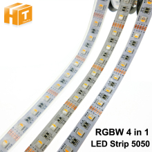 4 in 1 RGBW LED Strip 5050 DC12V Flexible Light RGB+White / RGB+Warm White 4 color in 1 LED Chip 60 LED/m 5m/lot.