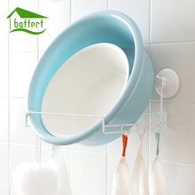 1Pcs Metal Strong Suction Multifunction Sucker Towel Rack Bathroom Kitchen Towel Bar Rack Toilet Paper Holder Metal(China)