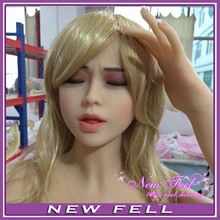 Top quality  39# head for full solid silicone sex doll. oral sex doll head with colse eyes
