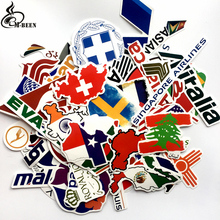 NEW 79pcs/lot Map Airline Logo Travel stickers For Suitcase Laptop notebook Guitar motorcycle DIY Waterproof Graffiti decals(China)