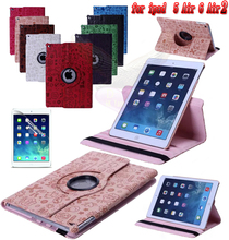 Free 360 Little Witch PU Leather Rotating Case Smart Stand for Apple ipad air1 A1474`A1475 or for air 2 A1566`A1567 Tablet Case(China)