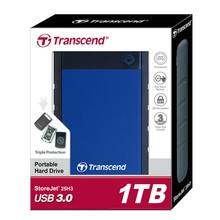 Transcend 25H3 USB 3.0 External Hard Drive 1TB HDD Hard Disk Drive 1T 1000GB External Storage Portable Storage For PC Laptop(China)