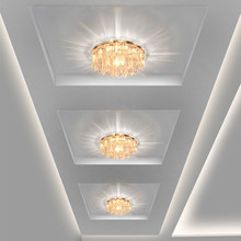 Modern Crystal LED Ceiling lights Fixture Indoor Lamp lamparas de techo 5W LED Hallway Foyer Ceiling Lights Home Decor