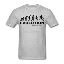 Funny Evolution of basketball Tee Shirt Men Male Short Sleeve Thanksgiving Day Custom XXXL Party Tshirts