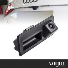 CCD HD Car Trunk Handle Camera Rear View Camera for Audi A4 A5 S5 Q3 Q5  Reverse Rear Parking Camera