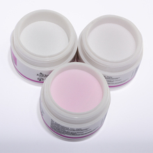 15g Clear Pink White 3 Colors Acrylic Powder Crystal Nail Manicure Tips Nail Art 3D Decoration Builder Polymer(China)