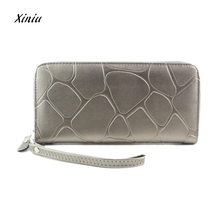 Women Clutch Big Stone Pattern Long Purse Wallet Card Holder Handbag Bag Long Design Purses Bifold Clutch New Especially Fashion(China)