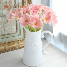 1pcs Artificial poppy flower Bouquet silk Cherry flowers for home DIY Wreath wedding decoration Fake Flowers