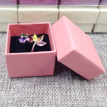 2017 New Kraft Ring Box High Quality Purple Beige Black/White Ring Box Packing Ring Pearl Shinny Of Pink , Beige , White ,(China)