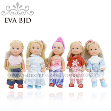 1/12 BJD Doll 12cm 7 jointed dolls Girl Baby Doll + Randomly Clothes shoes Accessories Dolls for girls Gift EVA BJD DB004