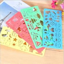 4 pcs Kawaii Cartoon Smile Draw a ruler modelling Ruler Blossoms Promotional Gift Stationery