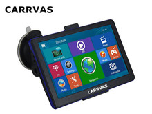 CARRVAS 7 inch Capacitive car GPS Navigation Bluetooth AVIN 256M 800Mhz CPU 8G ROM Navigator Europe maps or Russia Navitel maps(China)