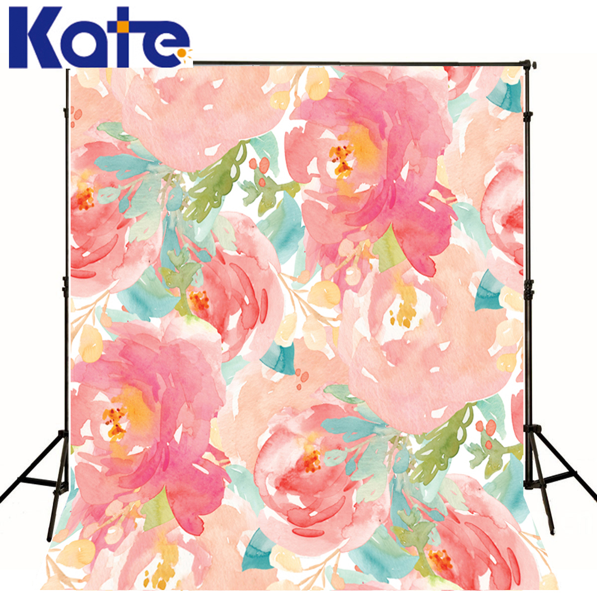 Kate Wedding Background Photography Painting Red Flower Fond Photographine Photo Studio Print Backdrop Photography J01677<br>