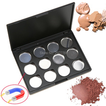 High-quality 12 PCS 26mm Empty Magnetic Eyeshadow Concealer Aluminum Pans With Palette Makeup Tools Cosmetics DIY Box(China)
