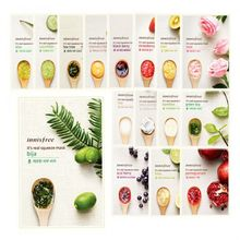 3pcs/lot It's Real Squeeze Mask Sheet 12 types for choice Korea Cosmetics Facial Mask