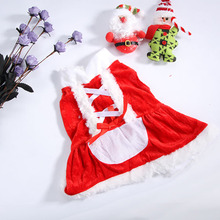 Pet Christmas Coat Costume Puppy Dog Santa Claus Hoodie Jacket Outwear Apparel
