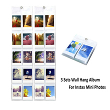 3Pcs Hang Wall Display Album 10 Pockets Per Pack For Fujifilm Instax Mini 7s 8 9 70 Film Camera Paper Photos Films(Hong Kong)