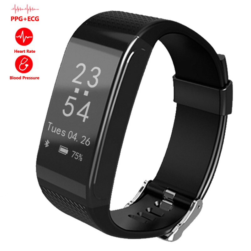 Newest ECG Heart Rate Watches Blood Pressure Monitoring Smart Bracelet EK18  Wristwatch Sports Bluetooth Tracker Fitness Monitor<br>