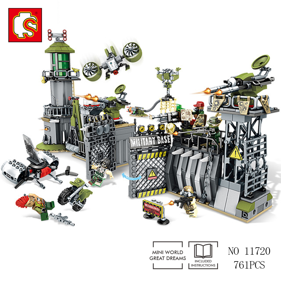 Sembo block 761pcs military energy city building blocks Compatible Legoed forces war enlighten DIY bricks toy for Children gift<br>