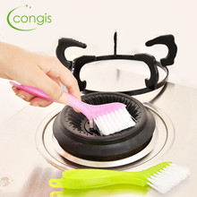 Congis 1PC 3 Color Doors and Windows Trench Cleaning Brush Kitchenware Tool Slot Brush Home Cleaning Tool Brush(China)